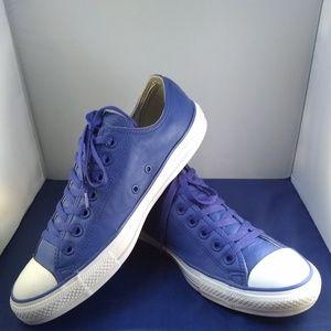 Unisex Leather Converse Shoes, Sz M=9.5 W=11.5